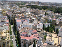 Od wysokości Seville widok obrazy stock