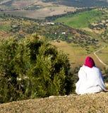 od wysokości w wioski Africa budowach i polu Fotografia Royalty Free
