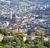 od wysokości w wioski Morocco Africa budowach i polu Fotografia Royalty Free