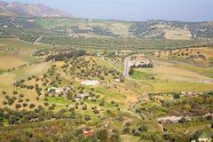 od wysokości w wioski Morocco Africa polu Obraz Royalty Free