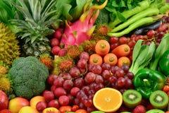 Odżywczy owoc i warzywo dla zdrowego Obrazy Royalty Free