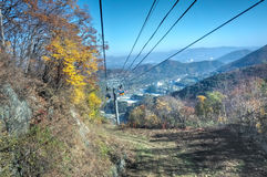 Odaesan National Park. One of the greatest mountains in Korea, with beautiful trees in every valley. Odaesan displays the beauty of Korean mountains with gentle Stock Image