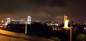 Odaiba在夜 免版税库存图片