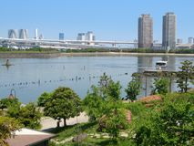 Odaiba海滨公园在东京,日本 库存图片