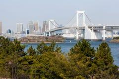 从Odaiba的东京视图 免版税库存照片