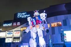 ODAIBA,日本- 2016年11月16日:gundum雕象在前面 免版税图库摄影