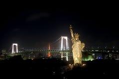 odaiba Τόκιο νύχτας της Ιαπωνίας Στοκ φωτογραφία με δικαίωμα ελεύθερης χρήσης