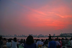 Odaiba beach Royalty Free Stock Photography