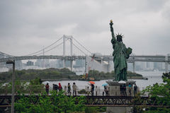Odaiba Japan staty av frihet Royaltyfri Foto
