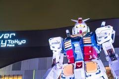 ODAIBA JAPONIA, LISTOPAD, - 16, 2016: statua gundum przed Obraz Royalty Free