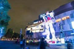 ODAIBA JAPONIA, LISTOPAD, - 16, 2016: statua gundum przed Obraz Stock