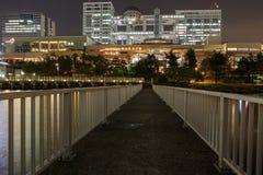 Odaiba at night stock photos