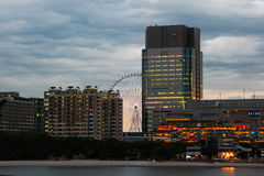 Odaiba skyline Stock Photography