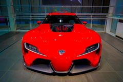 Toyota FT-1. Odaiba, Tokyo, Japan - October 14, 2017 : The concapt car, Toyota FT-1 In Toyota city showcase Royalty Free Stock Image