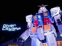 ODAIBA TOKYO, JAPON - 29 NOVEMBRE 2016 : Statue de Gundam Images libres de droits