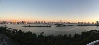 Odaiba - Tokyo. The view from Odaiba artificial island in Tokyo Stock Photos