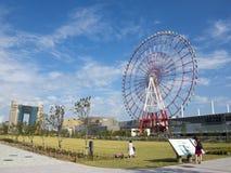 Odaiba wheel and mall, Tokyo Stock Image