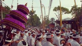 Odalan ceremoni, Ubud, Bali arkivfoto