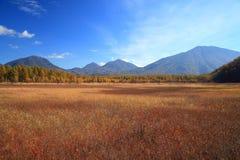 Odashiro plateau of autumn Royalty Free Stock Photo
