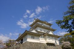 Odawara castle, Japan. National Historic Site. Main keep of Odawara castle, Japan. National Historic Site Royalty Free Stock Photo