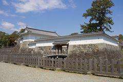 Odawara castle, Japan. National Historic Site. Akagane gate of Odawara castle, Japan. National Historic Site Royalty Free Stock Images