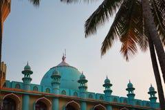 Odayam Juma Masjid Mosque at Varkala beach, Kerala, India. Odayam Juma Masjid Blue and coral color Muslim Mosque at Varkala Odayam beach, Kerala, India royalty free stock images