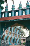 Odayam Juma Masjid Mosque at Varkala beach, Kerala, India. Odayam Juma Masjid Blue and coral color Muslim Mosque at Varkala Odayam beach, Kerala, India stock image