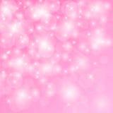 Odbicia światło na różowym tle Zdjęcia Stock
