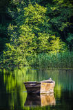 Odbicia łódź Fotografia Royalty Free