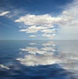 odbicia nieba woda royalty ilustracja