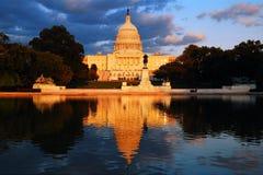 Odbicia USA Capitol zdjęcia royalty free
