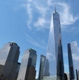 Odbicia w drapaczach chmur w Nowy Jork Fotografia Royalty Free