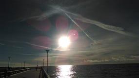 Odbicia wokoło słońca Zdjęcie Royalty Free