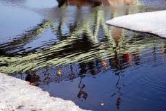 odbicie abstrakcyjna wody Obraz Royalty Free