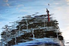 odbicie abstrakcyjna wody Fotografia Royalty Free
