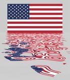 odbicie bandery, usa ilustracji