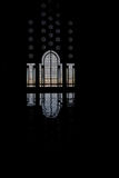 odbicie drzwiowa meczetowa sylwetka Fotografia Stock