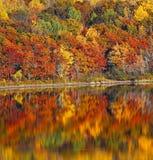 Odbicie jesieni kolorów woda Fotografia Royalty Free