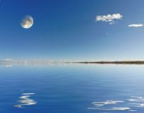 odbicie księżyca Fotografia Royalty Free