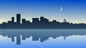 odbicie miasta. ilustracji
