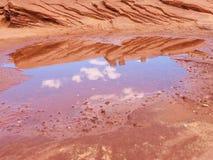 Odbicie pustynia Obrazy Royalty Free