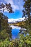 Odbicie sceniczny jeziorny matheson w południowej wyspie nowy Zealand Zdjęcia Royalty Free