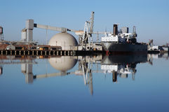 odbicie statek portu morskiego Zdjęcie Stock
