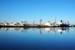odbicie statek portu morskiego Zdjęcia Royalty Free