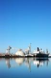 odbicie statek portu morskiego Obrazy Royalty Free