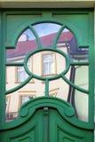 Odbicie w doorglass Zdjęcie Royalty Free
