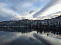 Odbicie w fjord Obraz Stock