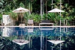 Odbicie w pływackim basenie Obrazy Royalty Free