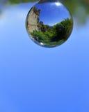 Odbicie wśrodku krystalicznej sfery Zdjęcie Stock