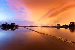 Odbicie wschód słońca w Bukit Mertajam Penang Zdjęcie Royalty Free